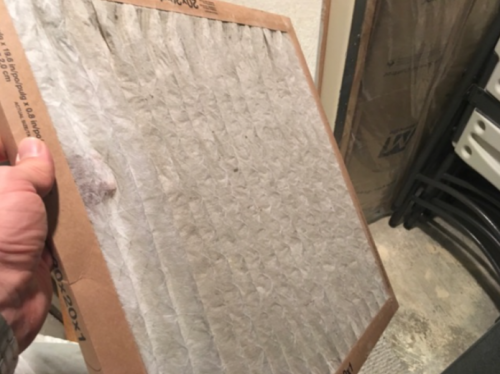 Dirty furnace filter, home maintenance schedule, Lucent Home Inspections, home inspector