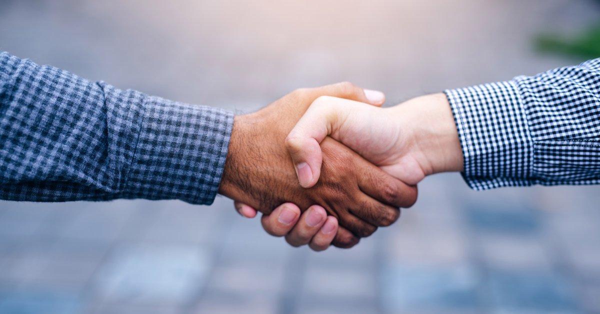 handshake after negotiations